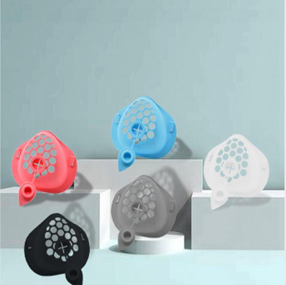 3D Silicona de Calidad Alimenticia Máscara soporte con la bebida del soporte del agujero interior de soporte conveniente para el Aumento de máscaras de respiración herramienta accesoria LJJP525