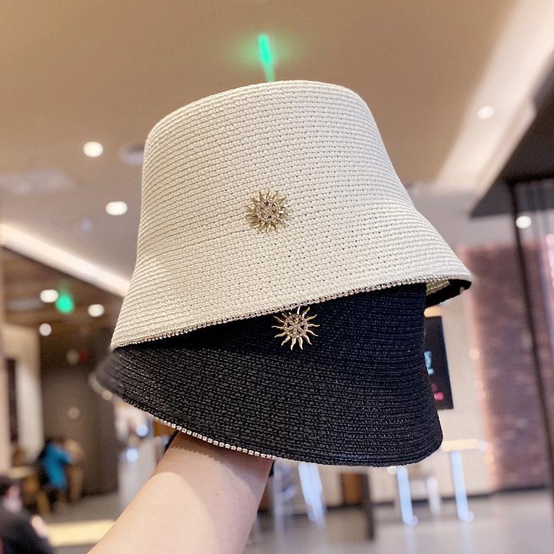Venda Hot Mulheres Sun Proteção Straw Hats Moda Personalidade senhoras Chapéu de Sol de alta qualidade ao ar livre Praia Chapéus de Sun