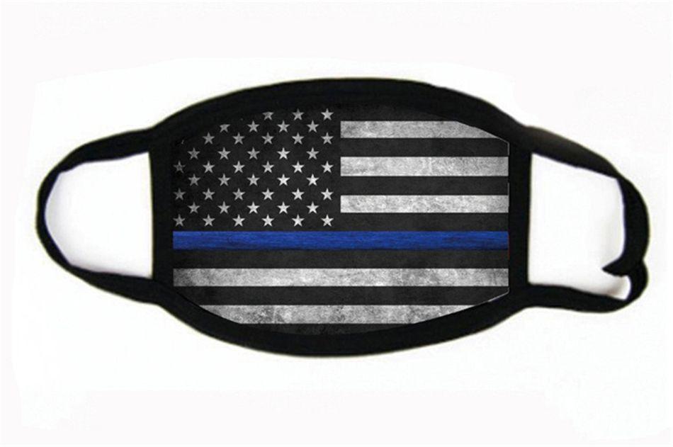 Amerika-Flaggen-Beatmungsgeräte Cotton-Druck-Stern-Gesichtsmasken Anti Smoke MascherineDust Proof Breathable # 556
