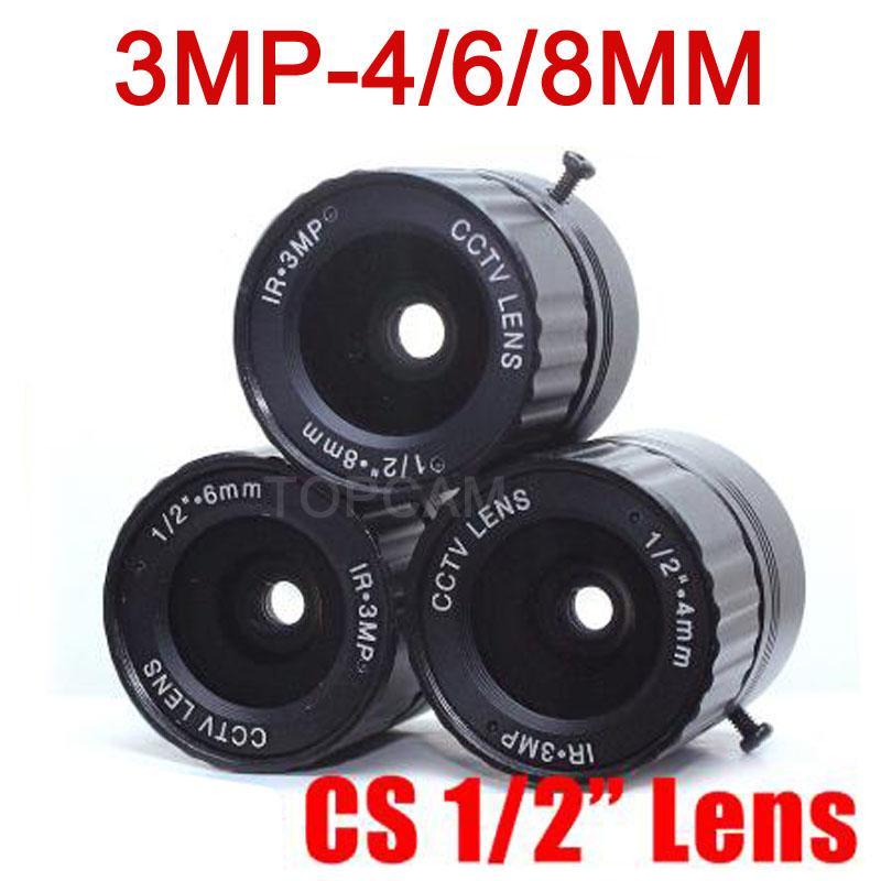 """HD 3MP CCTV lente de 4 mm 6 milímetros 8 milímetros CS Lens 3MP para câmeras de segurança HD ip caixa de câmera F2.0 Formato da imagem 1/2"""""""
