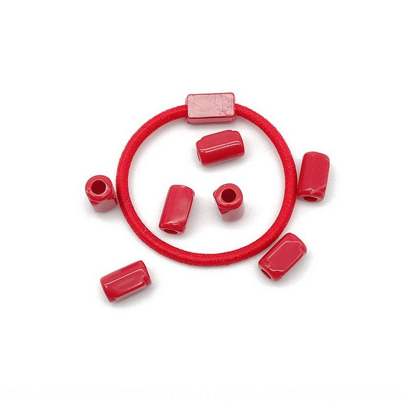 m7DOH Children's simple candy color butt rubber band rubber band pipe bead inner hole 2mm hair ring bead