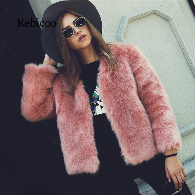 Winter New Thick Warm Faux Fur Coat Pink Luxury Women's Furry Coat White Lady Fake Fur Jacket Plus Size Women XXXL