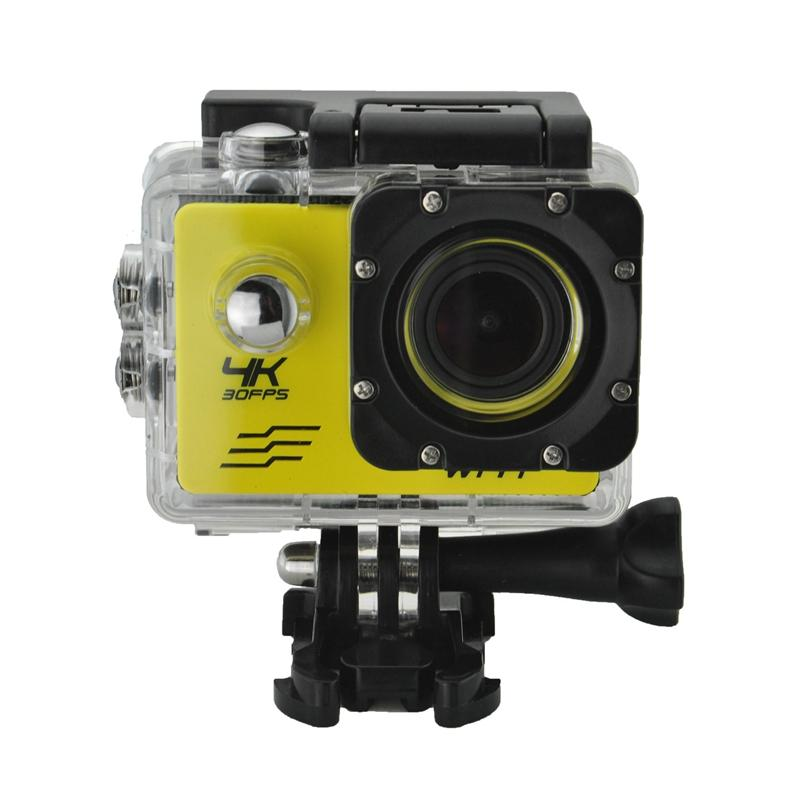 Açık Spor Eylem Kamera WIFI 4K 30fps 2.0LCD 1080P 60fps Sualtı Su geçirmez Dalış Sörf Bisiklet Kask Kamera