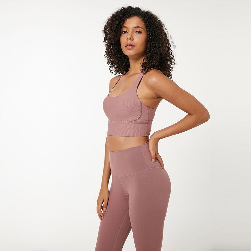 الرياضة الصدرية اللياقة الجري رياضة ملابس النساء داخلية عالية القوة صدمات الظهر لو اليوغا مبطن سترة خزان قمم
