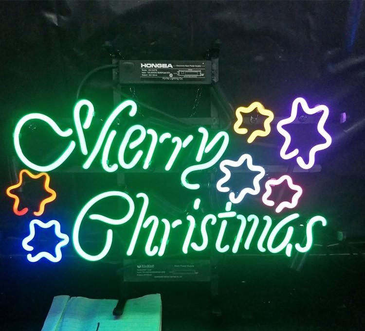 عيد ميلاد سعيد النيون ضوء الشاشة في الهواء الطلق بار نادي الترفيه الديكور النيون ضوء مصباح بدعم الإطار المعدني
