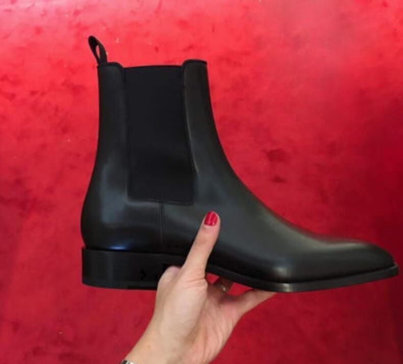 الشهير مريح الرجل الأحمر أسفل جلد الحذاء إمرأة الرجال أحذية الكاحل، EU35-46 موضة أحذية شتاء فاخر الماركات رجال القاع