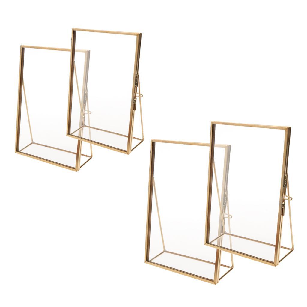 Ensemble de 4, bureau en verre moderne Cadre photo pour montrer l'illustration certificat d'image emboutie article Flower