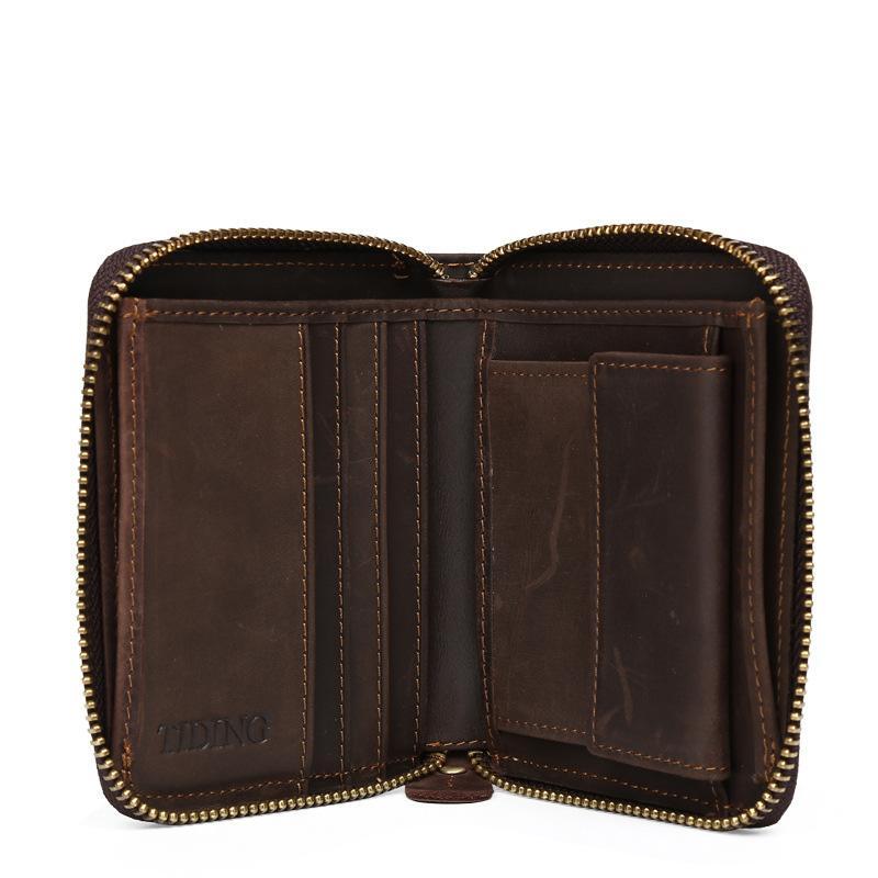 남자 지갑 남성 지갑 동전 지갑 포켓 90398에 대한 Vitage 지퍼 남성 지갑 가죽 지갑 정품 가죽 돈 가방 비즈니스 카드 홀더