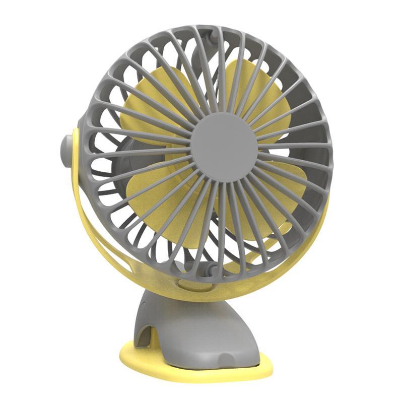 4000mAh portátil Arrefecimento Mini USB Fan 4 velocidades de 360 graus All-Round Usb rotação recarregável Fan Air carregamento desktop Clipe