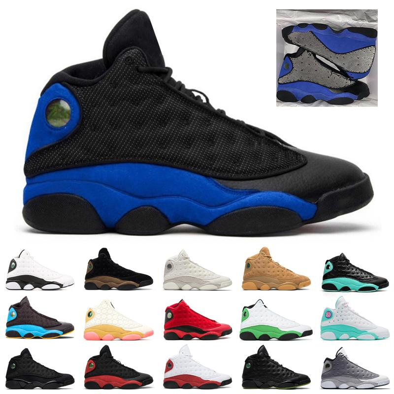 13S jumpman Erkek Basketbol ayakkabıları 13 Şanslı Yeşil Flint Mahkemesi Mor Hiper Kraliyet Ters He Got Game erkek eğitmenler spor ayakkabılarını Bred