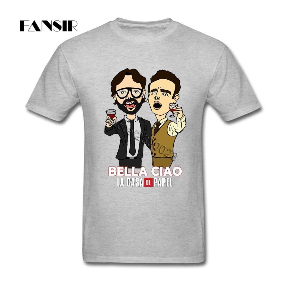 Takımı için La Casa de Papel Para Heist kısa kollu T shirt Yetişkin Özelleştirilmiş Camisetas Pamuk Yuvarlak Yaka Erkek Tişört