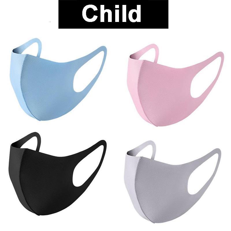 Viso polvere e Adulto Bambino Anti copertura PM2.5 mascherina del respiratore antipolvere anti-batteriche riutilizzabile ghiaccio seta cotone lavabile Maschere Strumenti Dha187