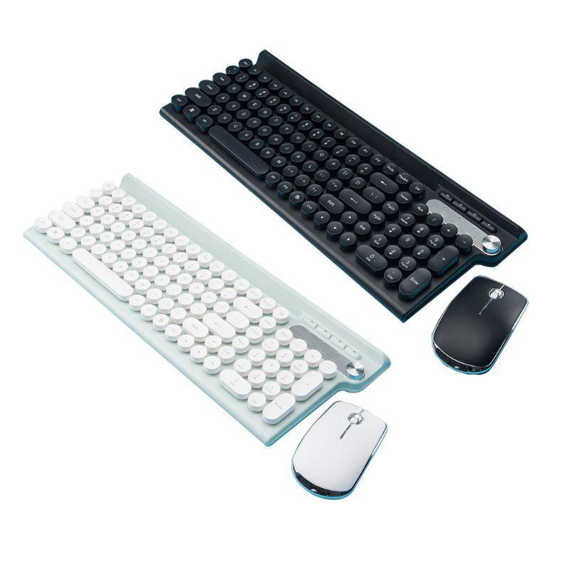 Teclado sem fio e Laptop Mouse Set recarregável silencioso computador desktop teclado Office Home Gaming Mouse Keyboard