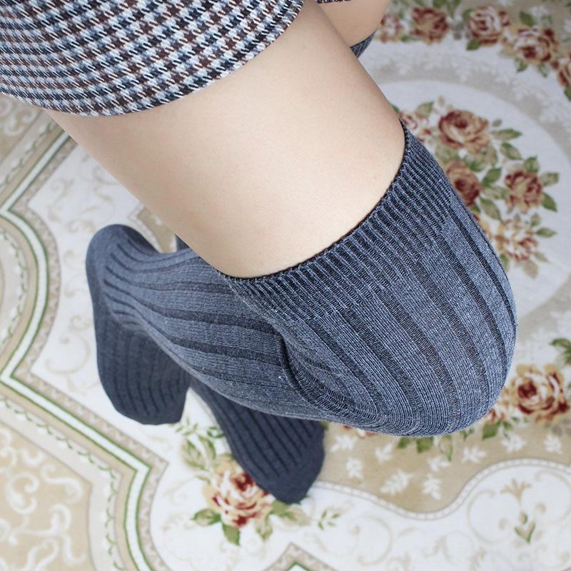 bacak çorap çorap ve dantel sıcak satış women'sthin Sıcak satan ve over-the-diz öğrenci Yüksek tüp reçetesiz diz öğrenci Yüksek tüp lac