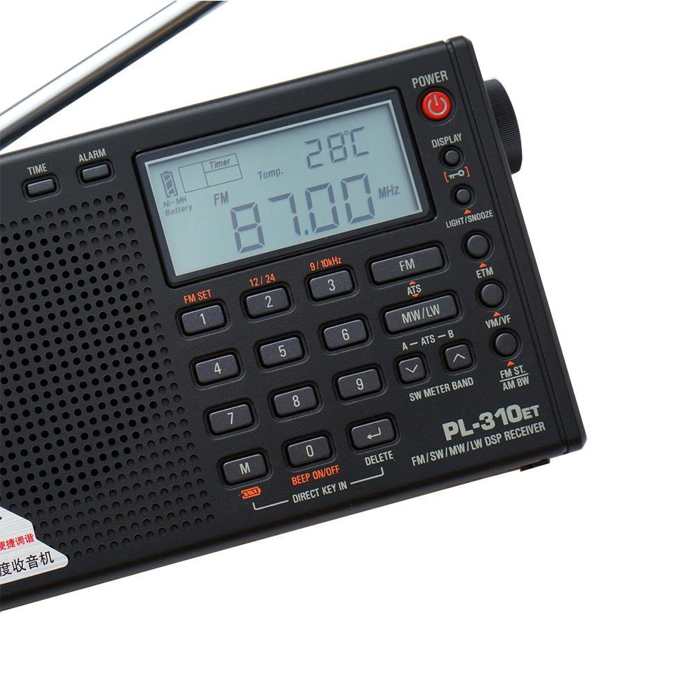 Freeshipping Full Radio Dijital Demodülatör FM / AM / SW / LW Stereo Radyo İNGİLİZCE İÇİN PORTABLE İNTERNET RADIO