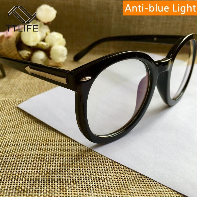 TTLIFE Light Blue bloqueio Óculos Limpar Lens Computer Goggles Óculos Óculos Mulheres Anti Blue Ray Gaming Óculos