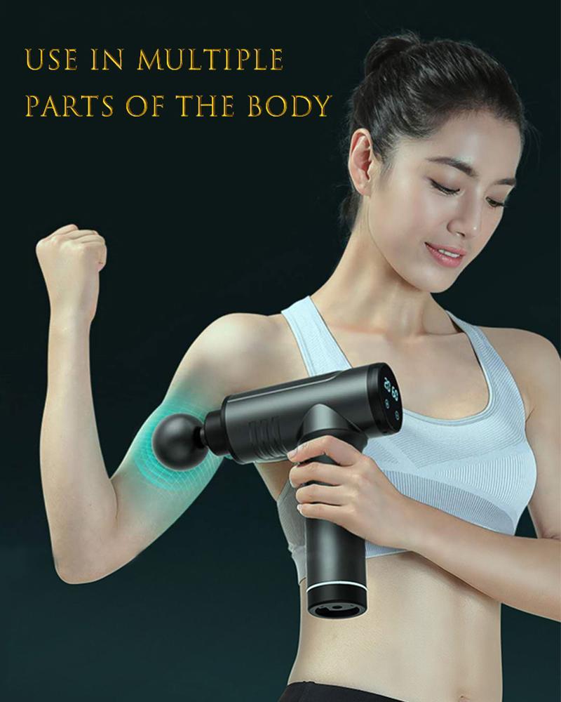 Massage Pistole mit LCD Tiefer Muskel Erleichterung Fascia Pistole Sporttherapie Massierergehäuse Entspannung elektrischer Massager123 Anzeige
