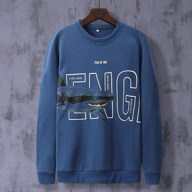 Осень и свитер shirtShirt shirtWinter корейский стиль акулы свитер большого размера модной мужской одежды студента мужской длинный рукав внутреннего основания S