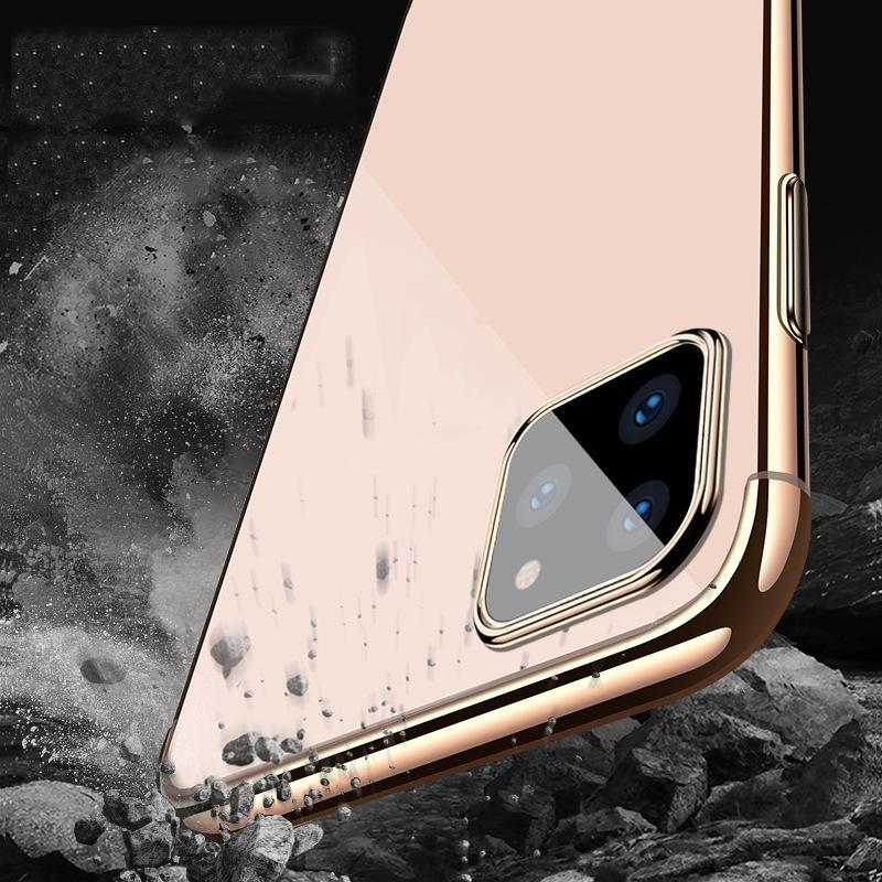 iPhone 12 Pro最大11 xs xr x xr x xr x xr x xr x xr x 8 7 6 6 s Se 2020のための1電気めっきめっきソフトTPUの耐衝撃のシリコーンの透明なカバーケース