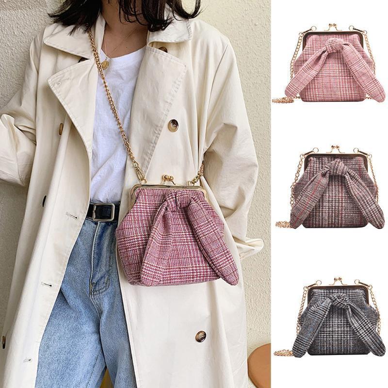 2020New Bow Bag Bag Bags Сумки Зажимные Плечо Дизайнер Роскошные Повседневная Сумка Цепь Bolso Шерстяная Мода Женщины Mujer Edpdf