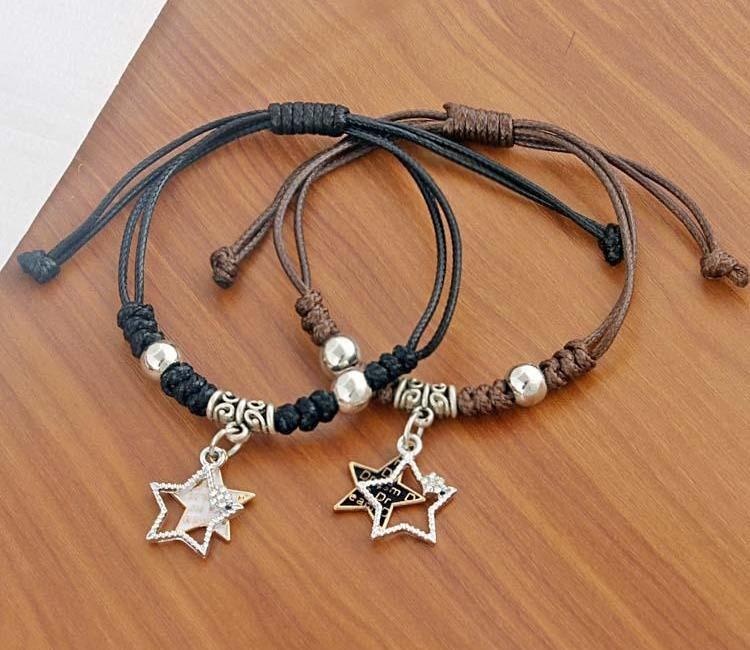 Ethnique Etoiles Bracelets Homme Mme coréenne Version du simple étudiant sen xi Bracelet55