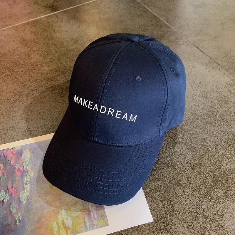 ins dos homens CwvmU preto marca de moda estilo coreano all-jogo boné de beisebol fina verão chapéu boné de baseball cap internet celebridade pára-sol das mulheres