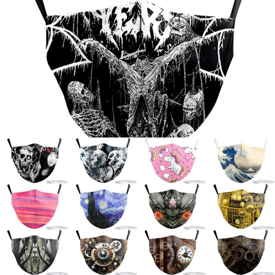 2021Face Imprimir Tecido Adulto Big Boca engraçada máscaras de palhaço cobrir a boca reutilizável proteção contra pó w Osco