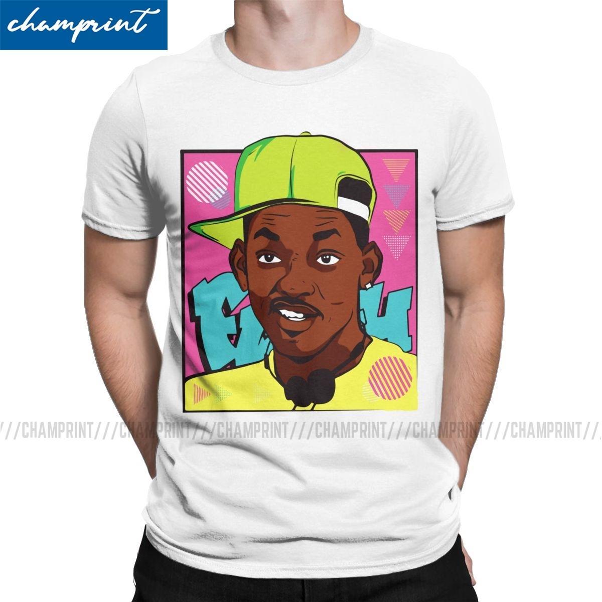 The Fresh Prince of Bel-Comédia aérea camisetas Homens Casual 100% Algodão Tees Crewneck manga curta camiseta aniversário Tops Presente