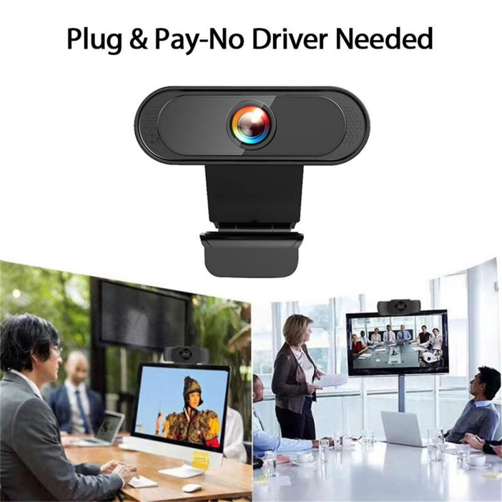 Auto Focus Webcam Full HD 1080P Computer Web Camera With Mic For PC Online Learning Live Broadcast WebCamera