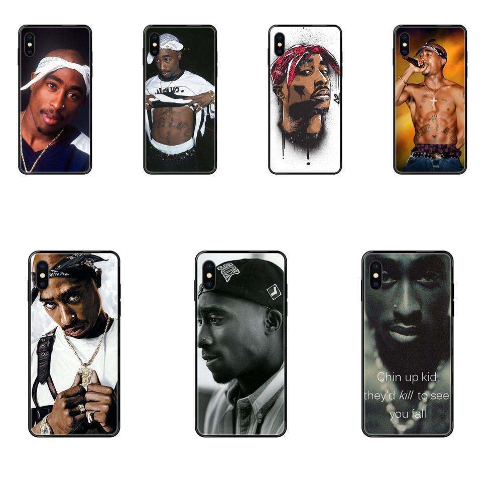 iPhone Arte Diy Luxo Phone Case Para a Apple 11 12 Pro XS Max XR X 8 7 6 6S Mais 5 5S SE 2 Pac Tupac Shakur