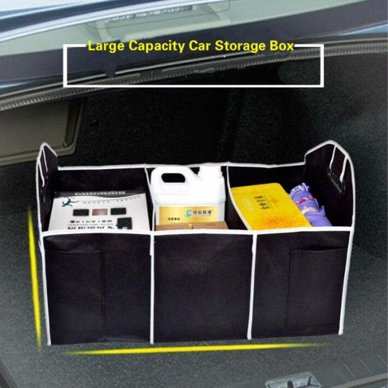 Bagagliaio Organizzatore pieghevole Organizzatore multi tasche grande capacità di archiviazione Storage Bag contenitore della scatola Accessori Gd6k #