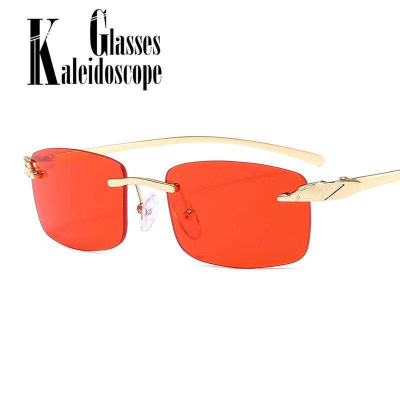 Мужчины беззаконные солнцезащитные очки Женщины Дамы солнца Красные ретро Очки прямоугольник UV400 Небольшие солнцезащитные очки Очки безмасштабные Очки APGTH