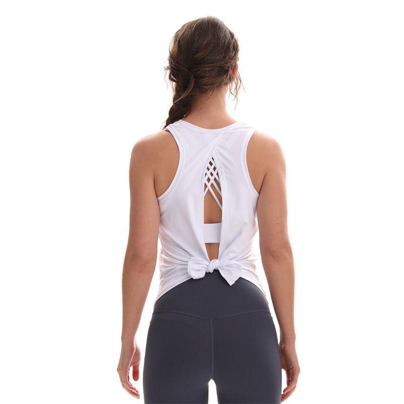 كل التعادل لو اليوغا سترة الملابس الرياضية للمرأة بلوزة عبر الرياضة ظهر الجمال تعمل الترفيه اللياقة البدنية كل مباراة لو أعلى بسرعة قمم للدبابات الجافة