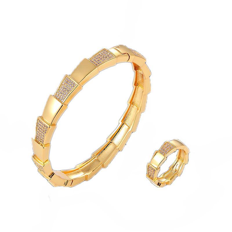 el lujo de un trapecio completo de circón un esmalte brazalete clásico con joyería del anillo fijaron circón cúbico micro pavimenta las mujeres pulsera diseñador de ajuste