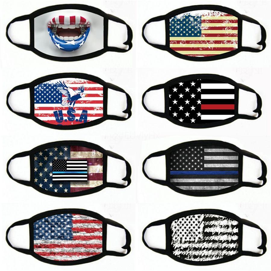 Máscaras EE.UU. bandera de América Águila Elección lavable de algodón mascarilla de respiración activa Resuable Mujeres Moda Hombre máscara # 777