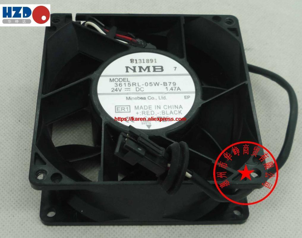NMB 9238 24V 3615RL-05W-B30-05W 0.53A 3615RL-B50-05W 0.93A 3615RL-B79 1.47A CNDC24Z4P-977 12CM 12308 24v 10W 3wire ventilador de refrigeración