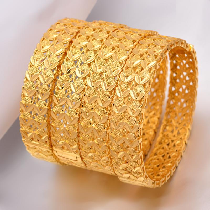 Wando grande Grand Luxe abierto BraceletsBangles para Mujeres / muchacha Dubai Francia boda pulsera de los brazaletes Oriente Medio regalo de la joyería