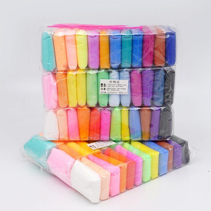 Qwz 36 cores slime super luz argila com 3 ferramentas de secagem de ar de plasticina de plasticina modelagem de argila artesanal brinquedos educativos argila lj200922
