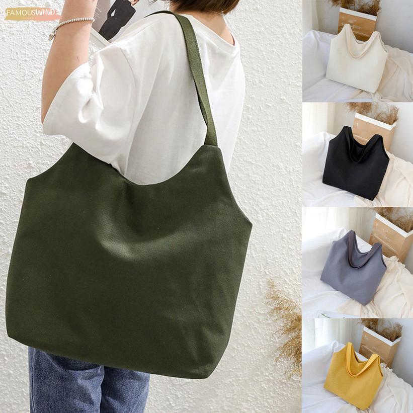 Shopping Solide Reißverschluss Leinwand Sac Bag Shopper Handtaschen Taschen Mujer Eco Tuch Wiederverwendbare große Damen UntPP Frauen Bolso Tote Travel Shoulder Npjxj
