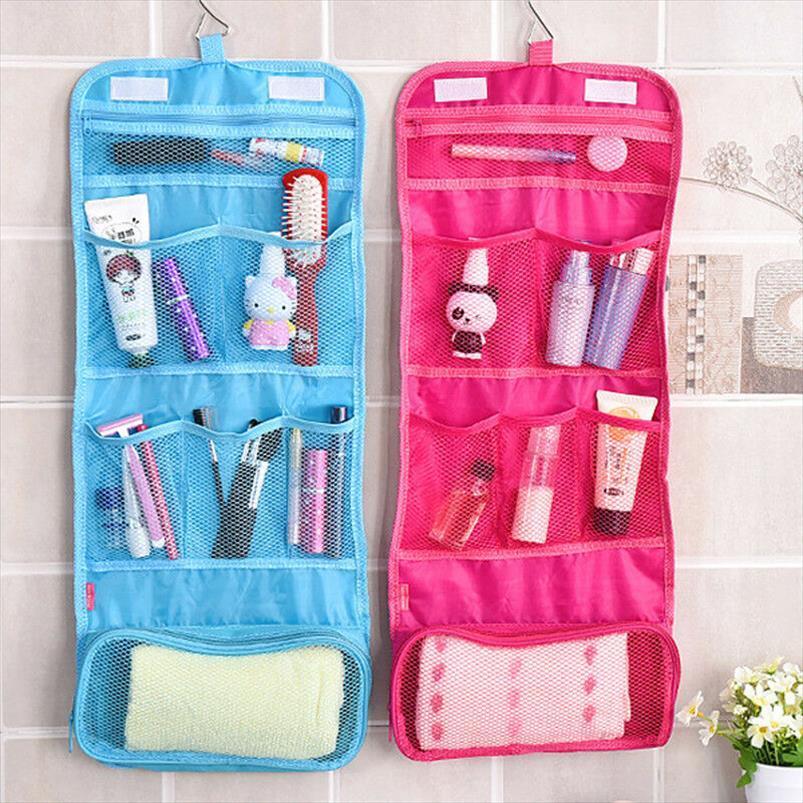 Cosméticos sacos de viagem composição cosmética do saco Sólidos Bag Gancho de Higiene Pessoal Caso Wash Organizador de armazenamento de suspensão Pouch