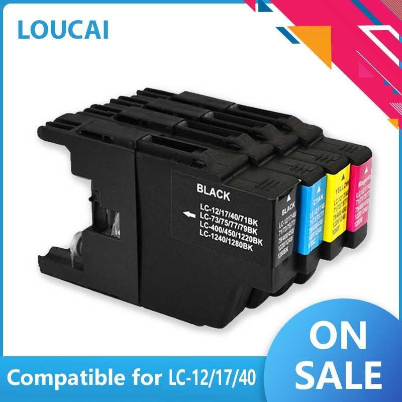 LuoCai cartouches d'encre compatibles LC1240 LC1280 LC75 LC73 LC77 LC79 LC12 LC17 LC450 LC400 Pour les imprimantes J6910CDW