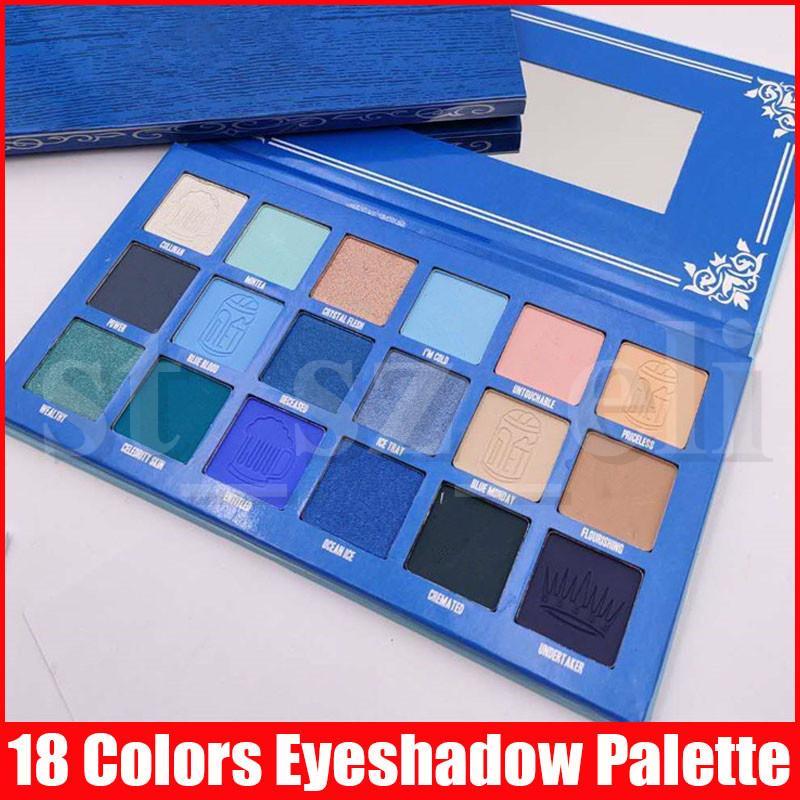 Five Star Palette Maquillage des yeux 18 couleurs Blue Blood Matte chatoyante de pigments de fard à paupières Ombre à paupières Pressée Palettes