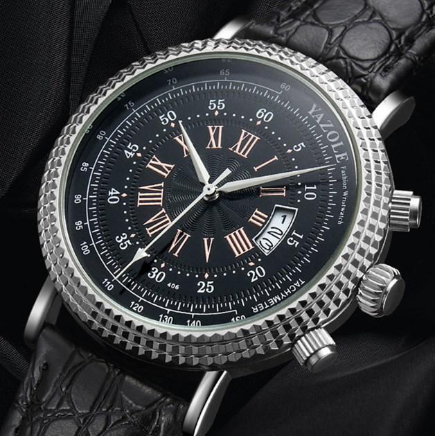 YAZOLE Tachymeter Wrist Watch Men Watch Sport Men's Watch Auto Date Watches Clock saat relogio masculino reloj hombre
