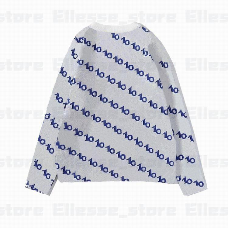 20SS женщин людей конструктора свитера LUXE Lattice пуловер Мужчины Толстовка с длинным рукавом Толстовка Активный Вышивка Трикотаж Зимняя одежда