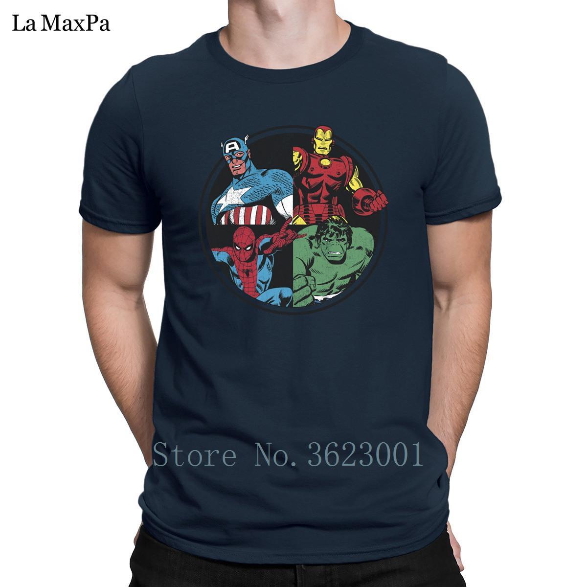 Lustige Trend-T-Shirt Sommer Avengers Assemble T-Shirts für Herren Belieben Funky Herren Größe S-3XL T-Shirt Hip Hop