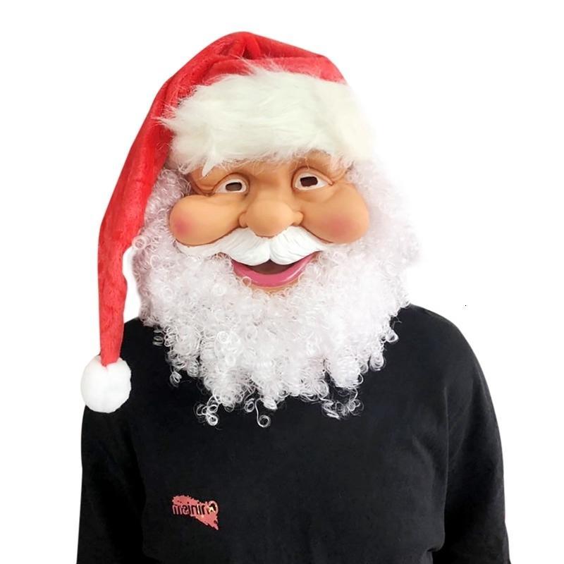 Santa engraçada Super Macio o Holiday Abastecimento Ctdu Noel Máscara peruca Beard partido do presente de Natal Costume