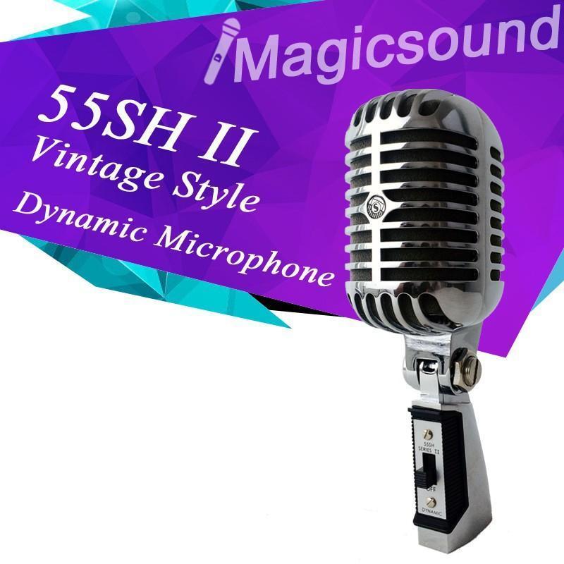 Top Quality! Vintage Style 55SH II Dynamic Microphone Vocal Mic 55sh2 Classical Microfone 55SH Series II