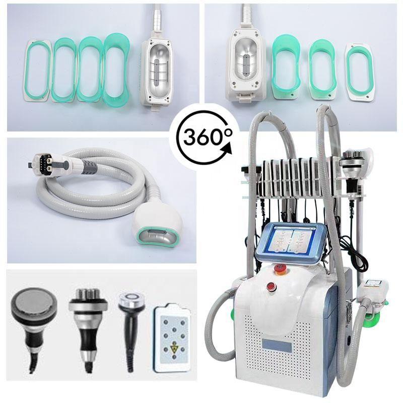 캐비테이션 RF 핸들 새로운 한 Cryolipolysis 360도 냉동 지방 냉동 기계 휴대용 한 Cryolipolysis 슬리밍 기계