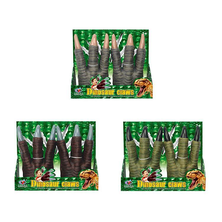 Kid jouets jouets gant animaux gants de griffes de dinosaures Jurassique vente chaude cadeau Jouets éducatifs de l'enfant