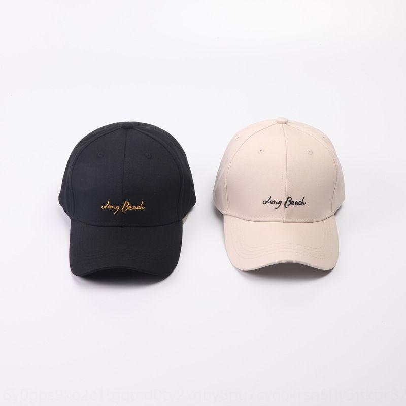 r3DBP длинного пляж письмо вышитой Вышитого бейсбол бейсболка корейский новый стиль мужских и летом изогнута женская шапка шляпа солнца